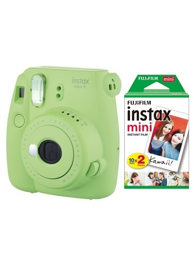 Fujifilm Instax Mini 9 Yeşil Fotoğraf Makinesi & 20'li Film Yeşil